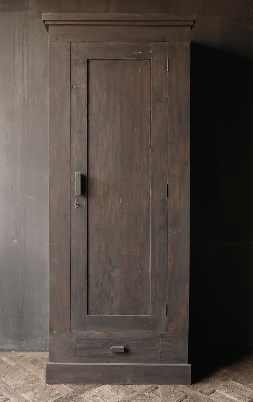 Beautiful, Tough, High dark Rural old wooden cupboard-5