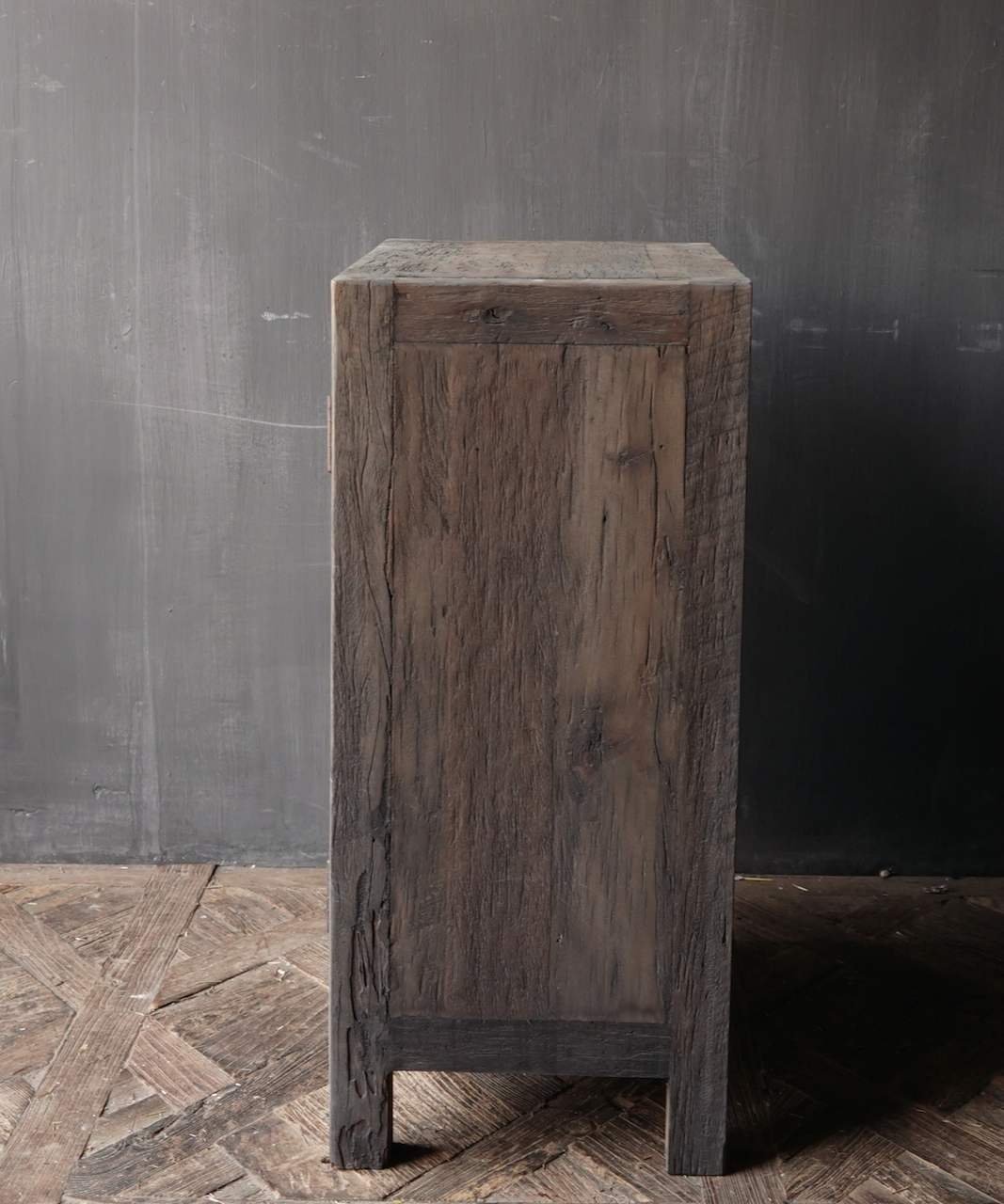 Tough one-door cabinet made of robust wood-2