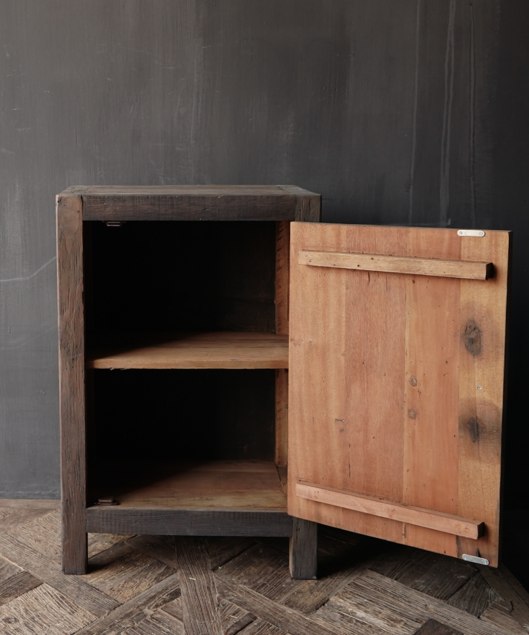 Tough one-door cabinet made of robust wood-4