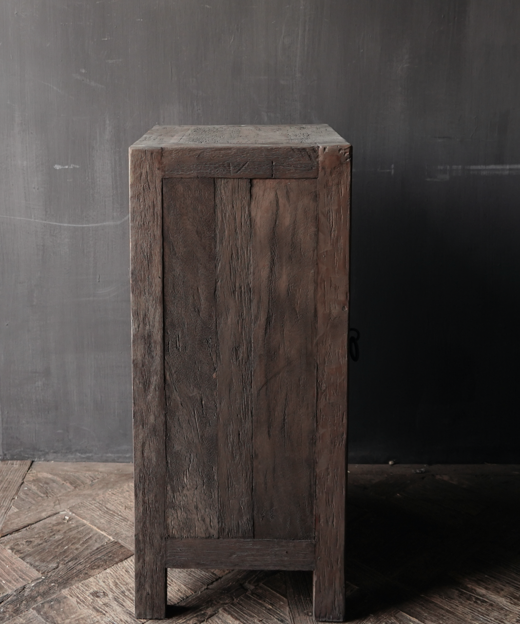 Tough one-door cabinet made of robust wood-5
