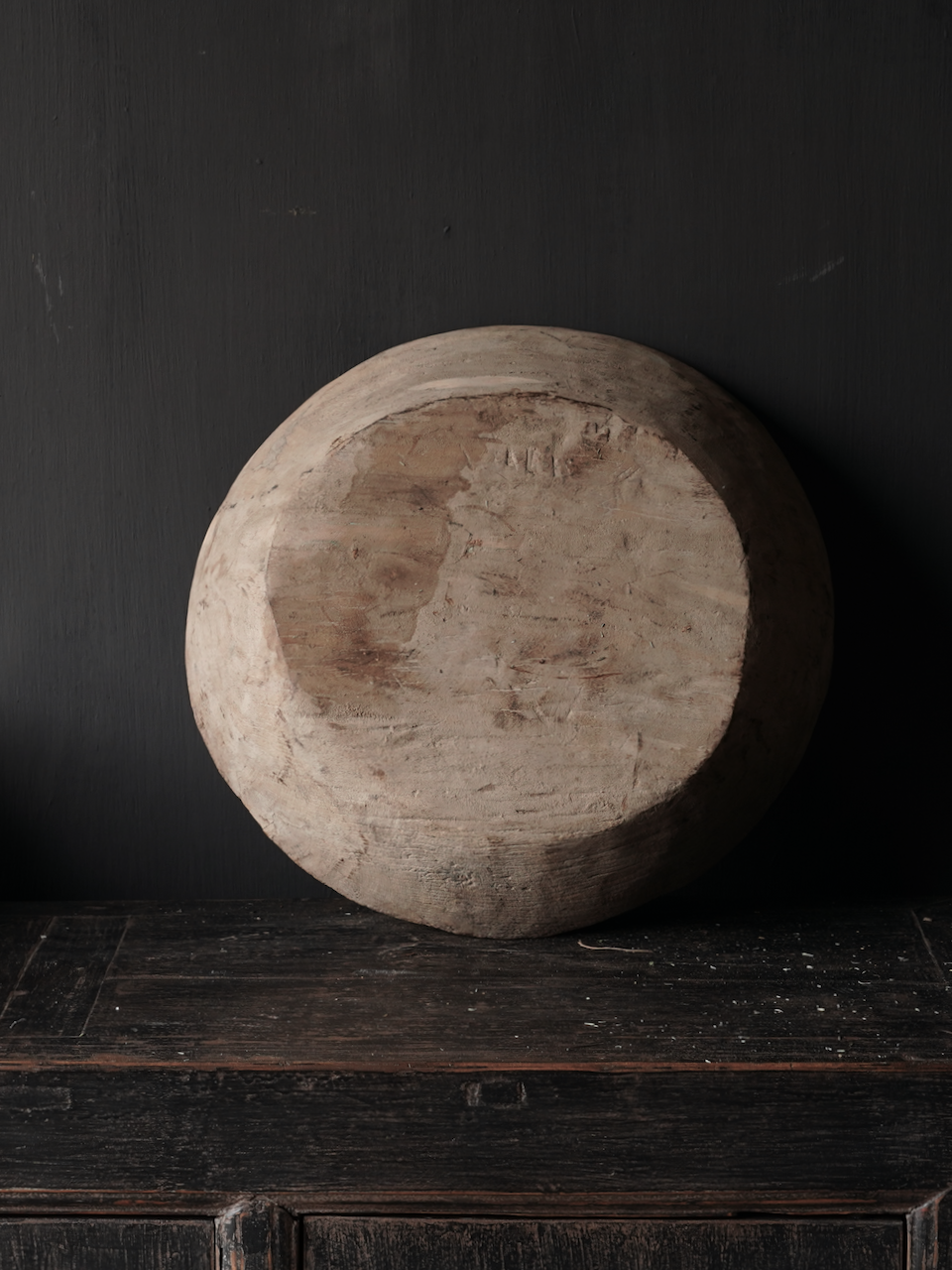 Old Authentic wooden bowl-4