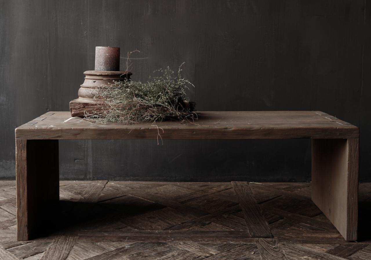 Salontafel van oud hout gemaakt-5