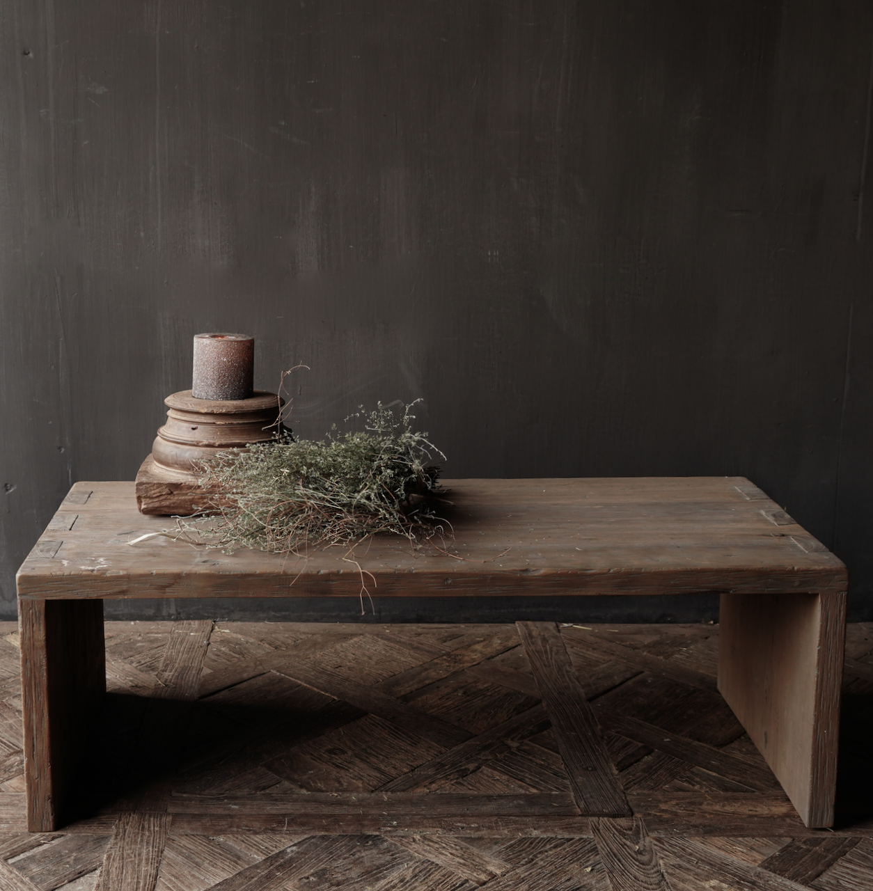 Salontafel van oud hout gemaakt-1