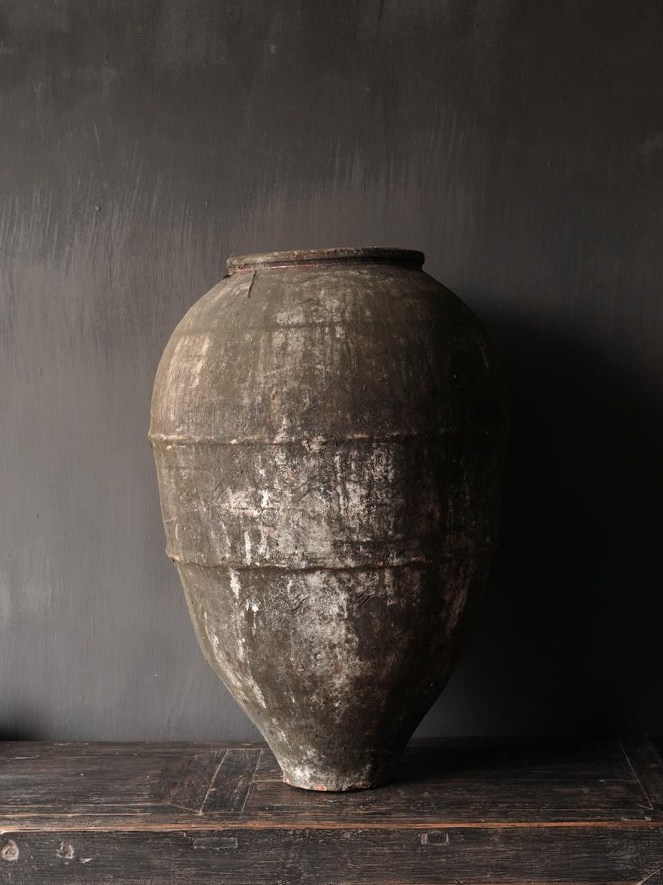 Oude Authentieke aardewerk kruik-3
