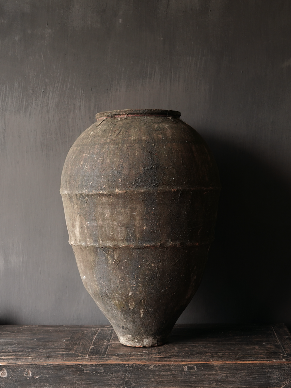 Oude Authentieke aardewerk kruik-4