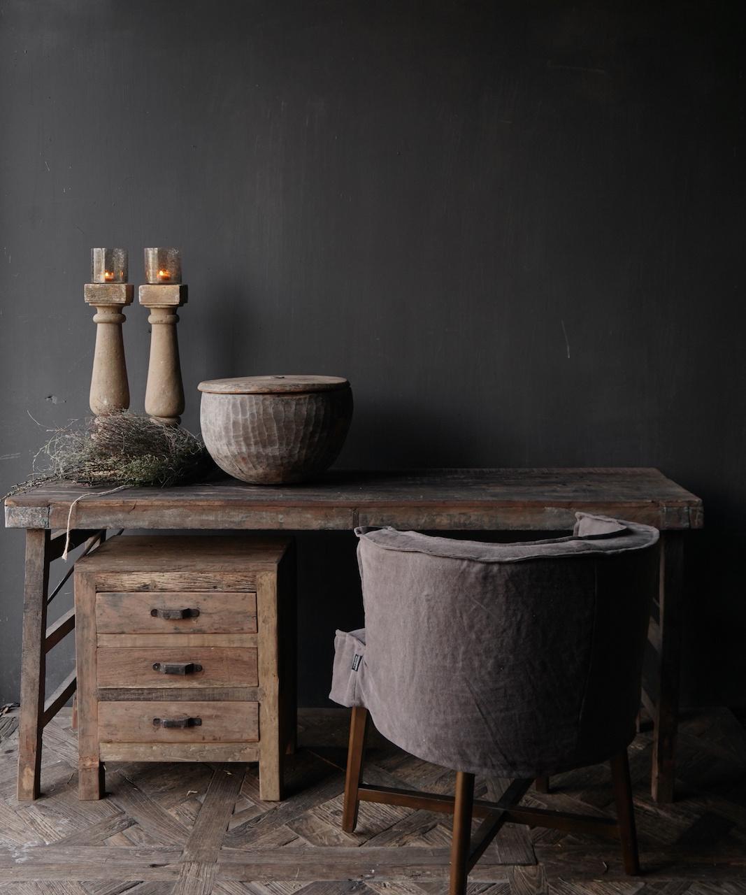 Oude Authentieke markt tafel-1