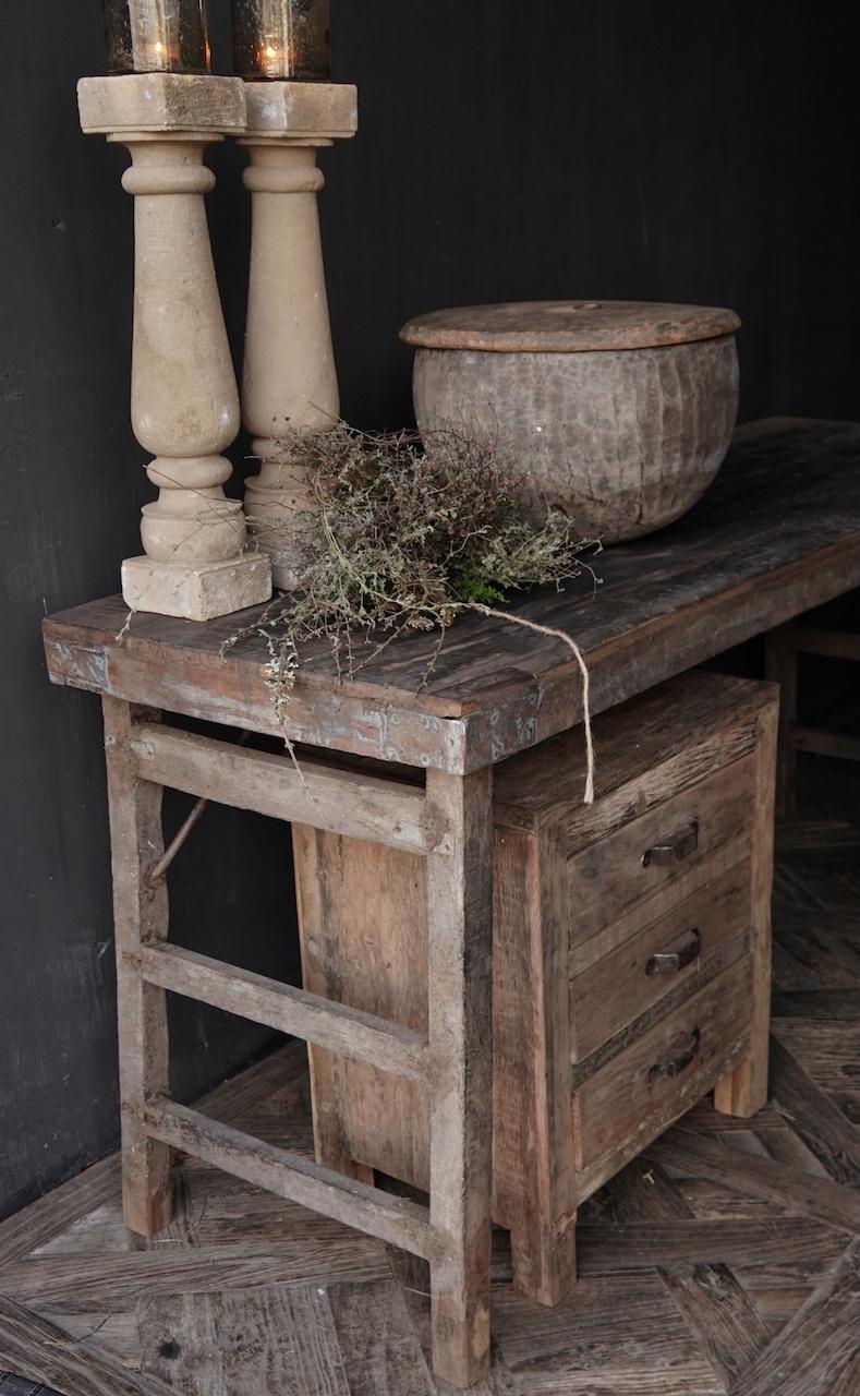 Oude Authentieke markt tafel-2