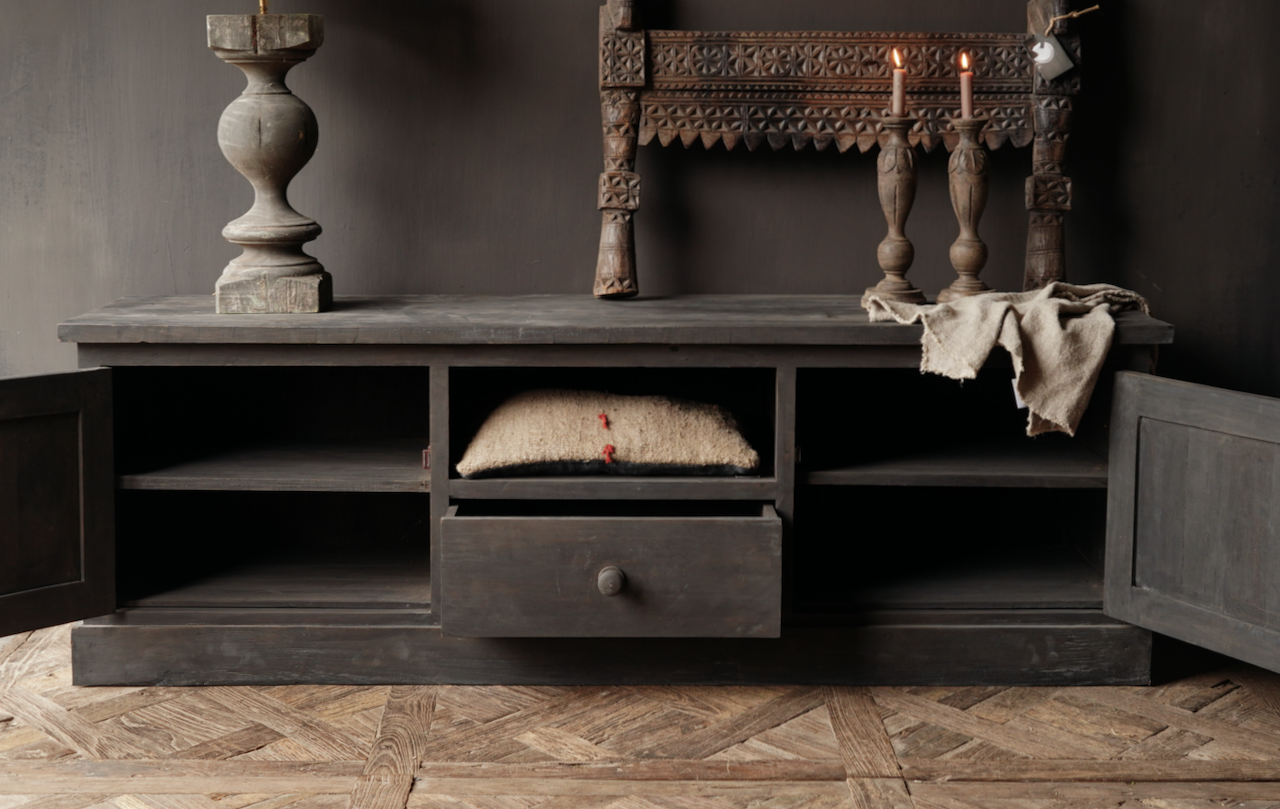 Stoer Tv Furniture / sideboard made of old wood-2