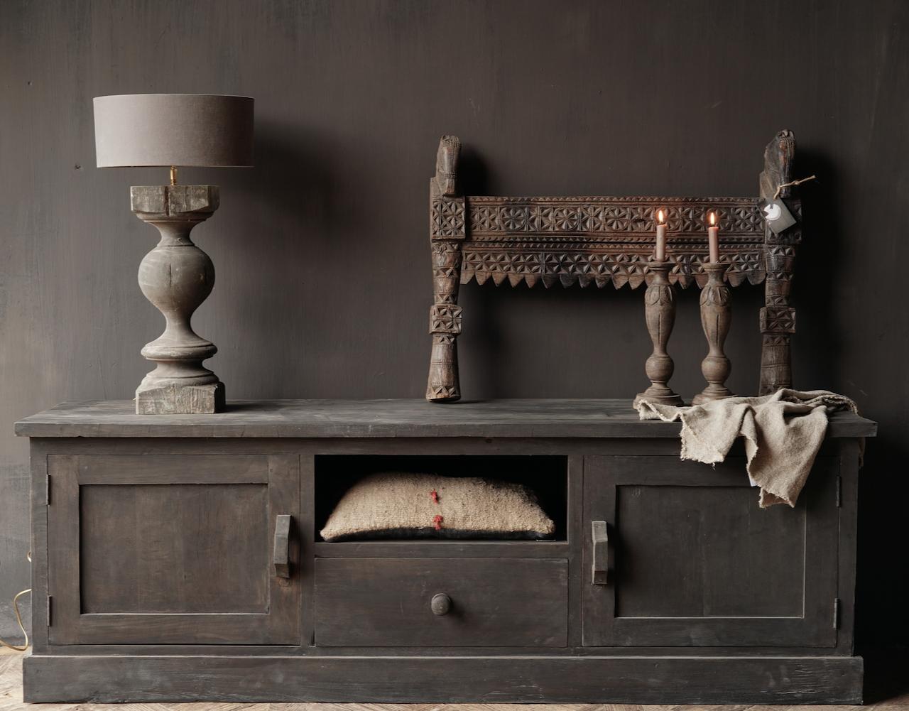 Stoer Tv Furniture / sideboard made of old wood-3
