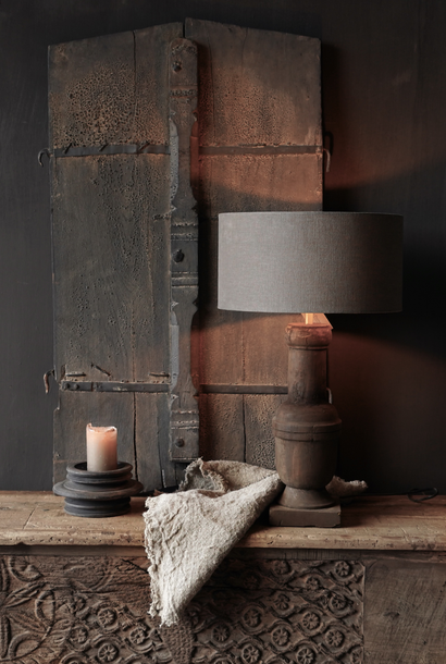 Holzlampensockel