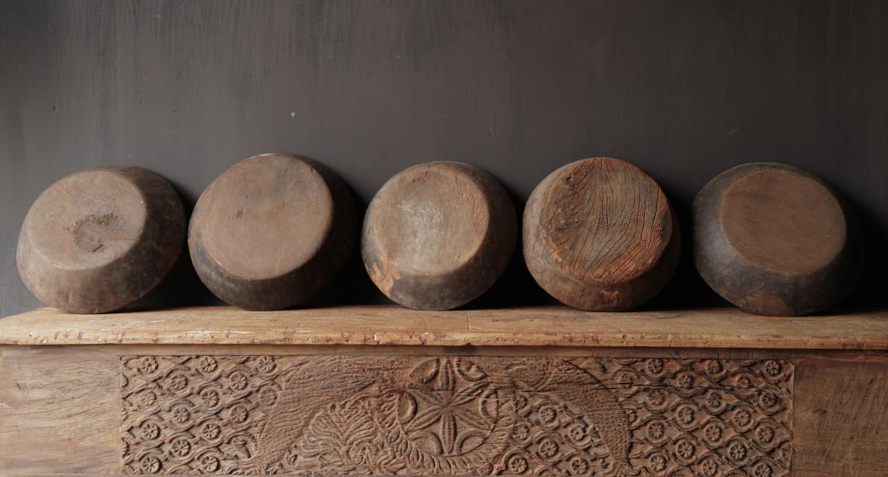 Oude Authentieke houten schaal-2