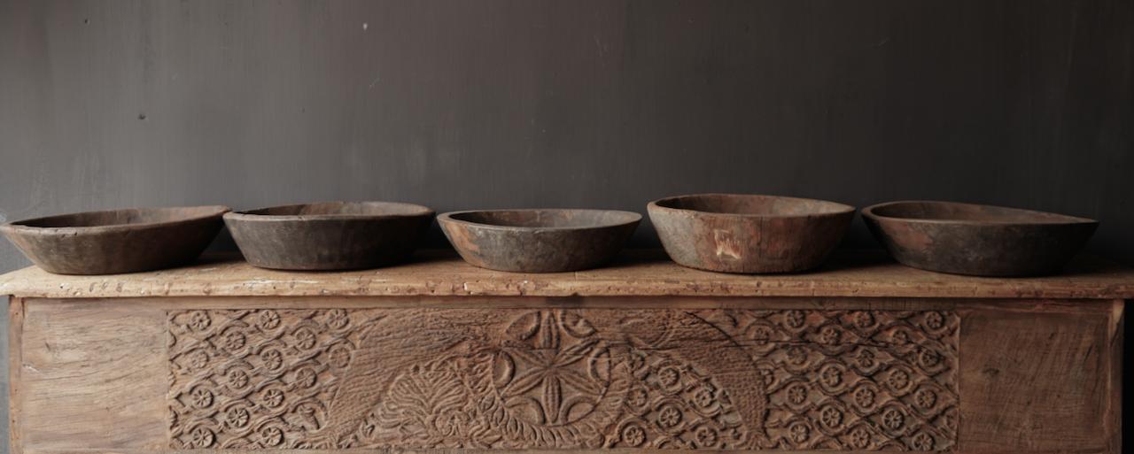 Oude Authentieke houten schaal-5