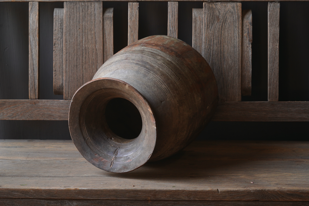Old wooden Nepalese Jug-2