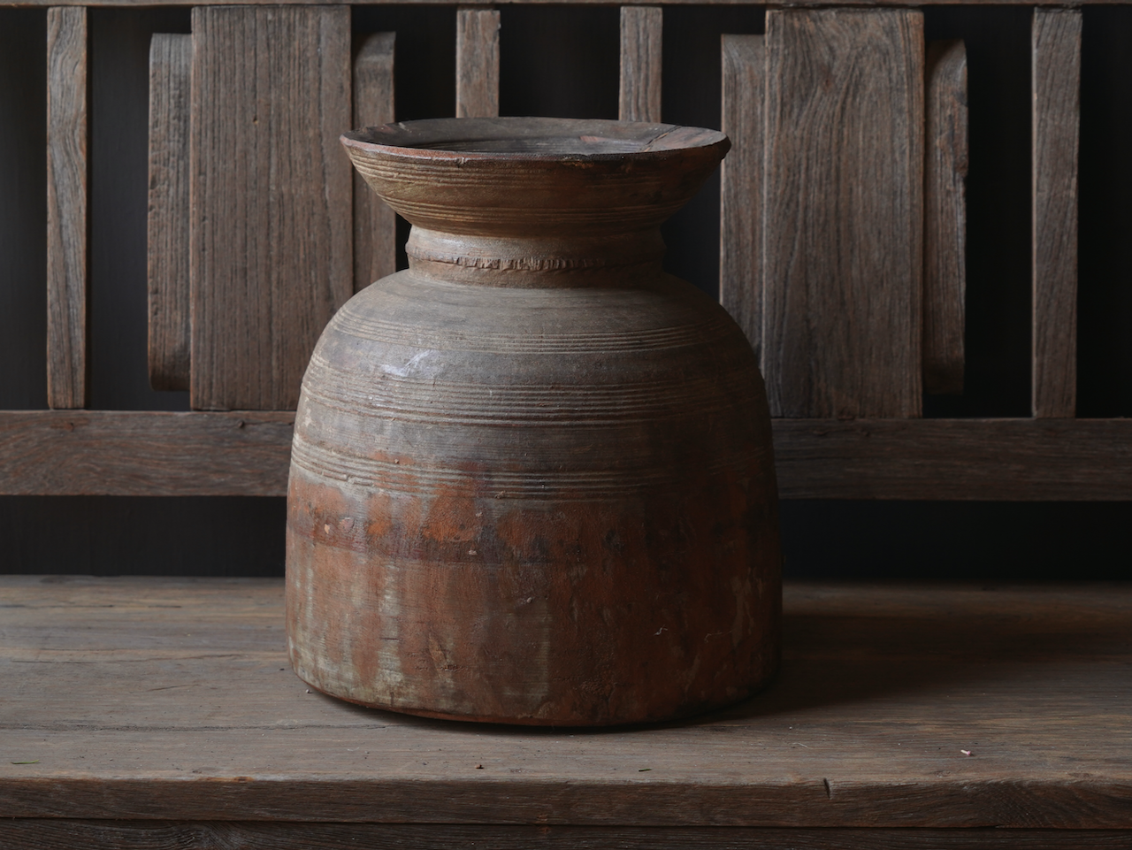 Old wooden Nepalese Jug-5