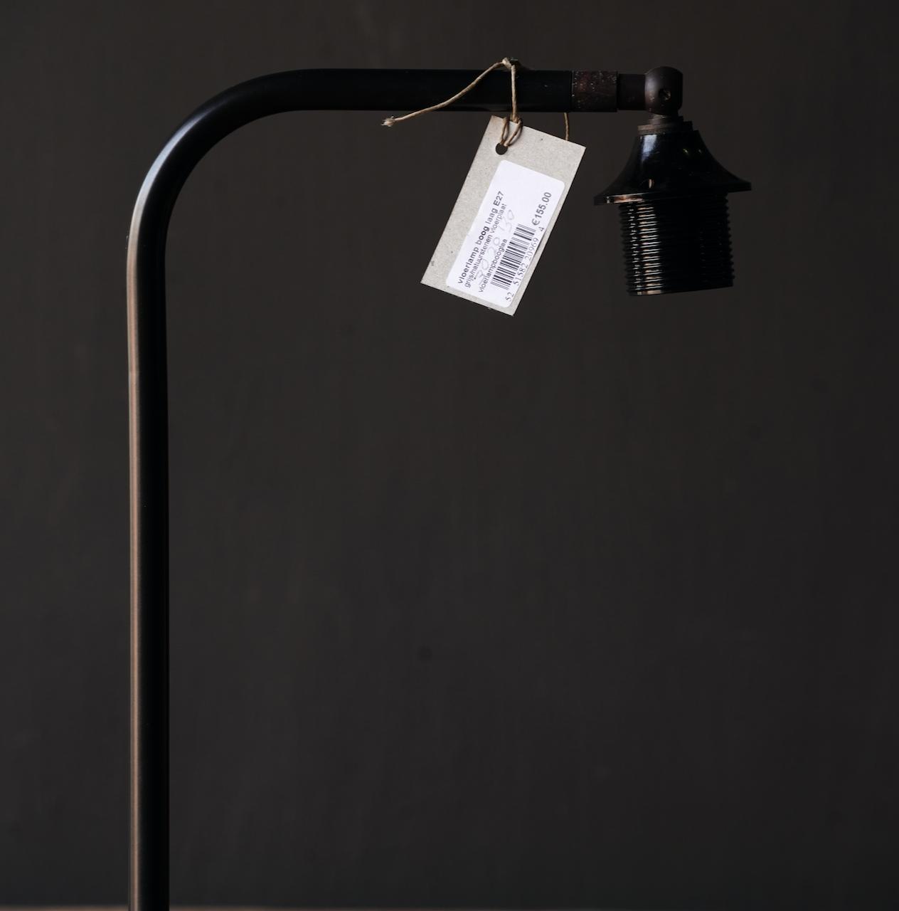 Eisen Stehlampe mit Bogen auf Natursteinsockel Aura Peeperkorn-3