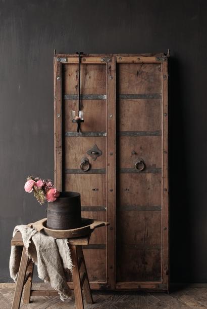*Gereserveerd* Oude Indische deuren set