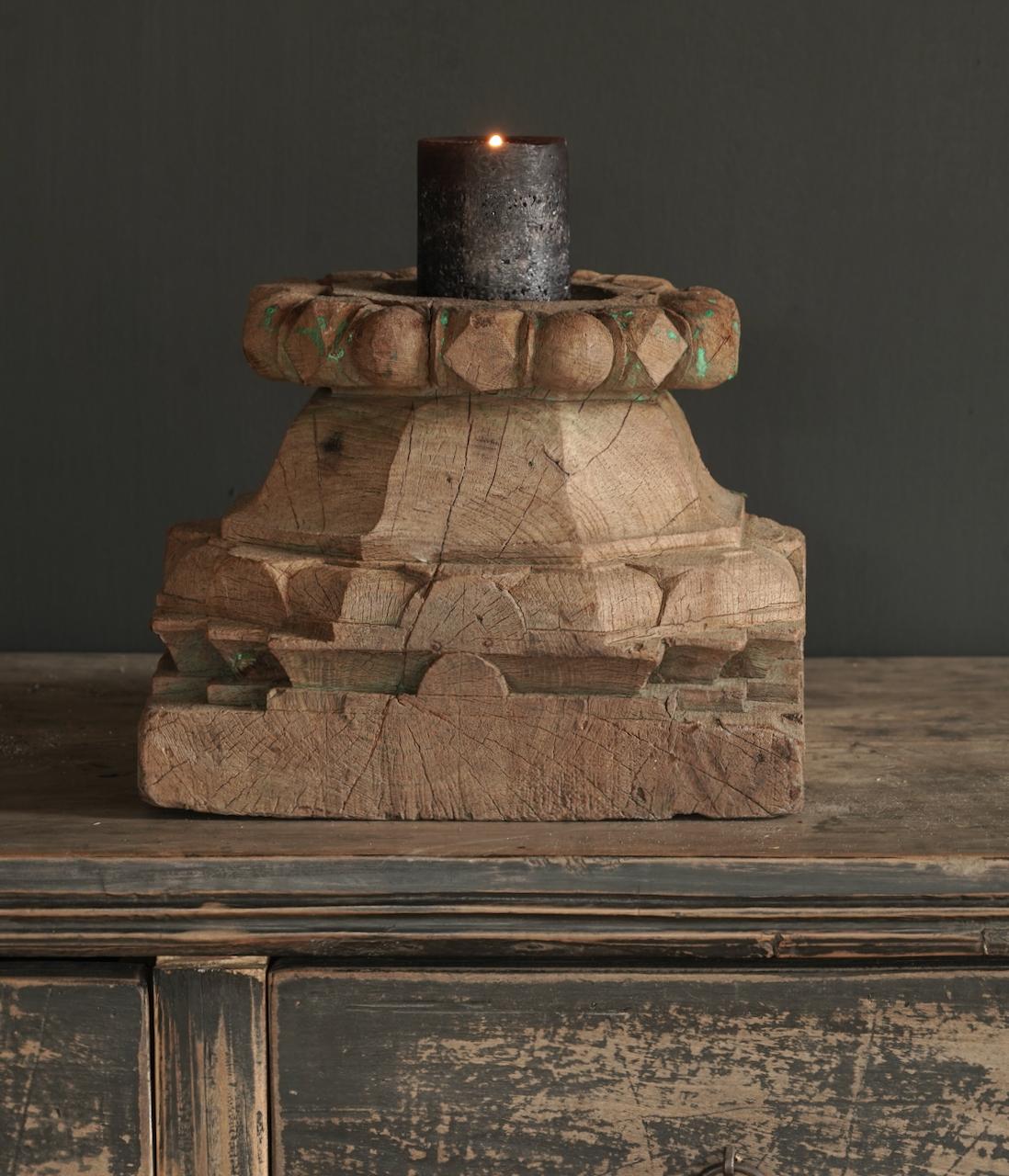 Alter authentischer reiner Kerzenhalter-5