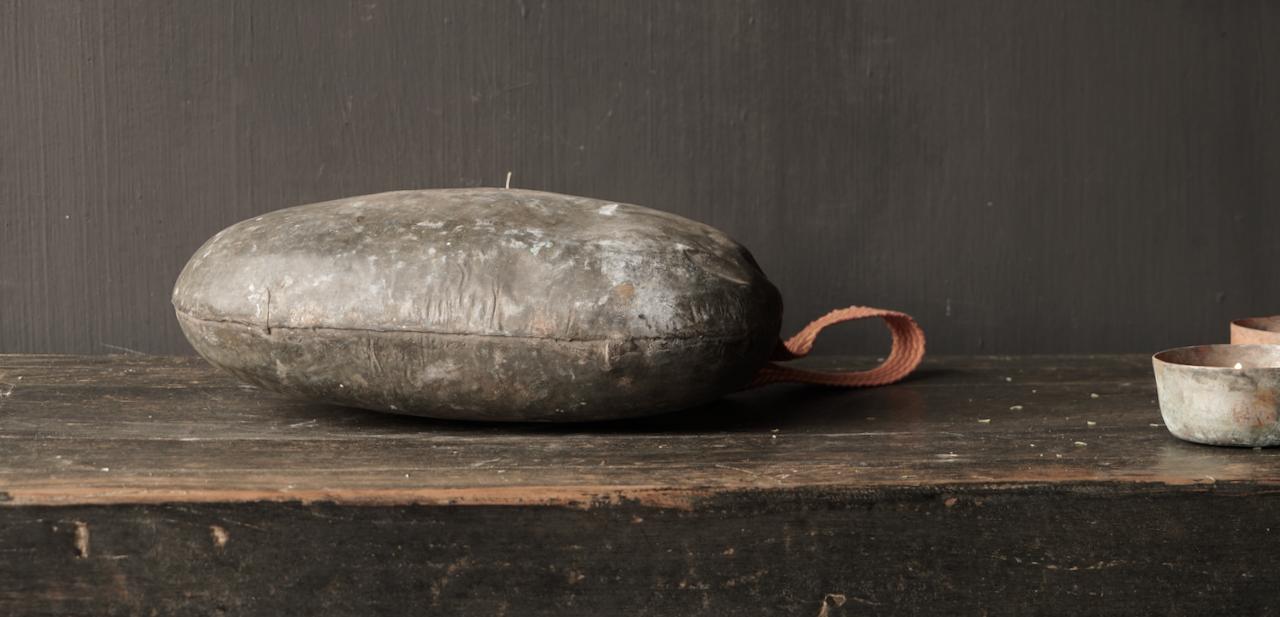 Old Antique Metal bottle India-5