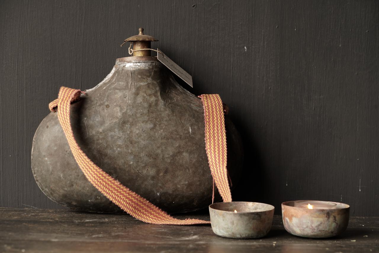 Old Antique Metal bottle India-2