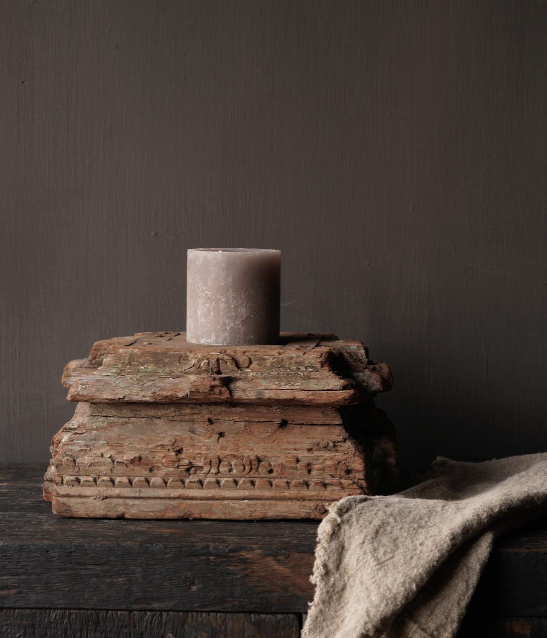 Alter authentischer reiner Kerzenhalter-1