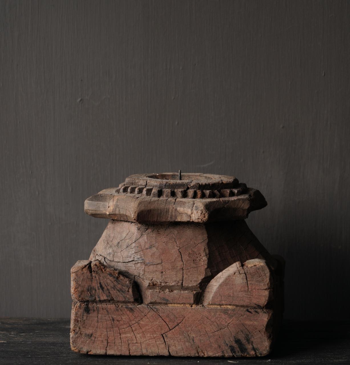 Oude Authentieke poer kandelaar-3