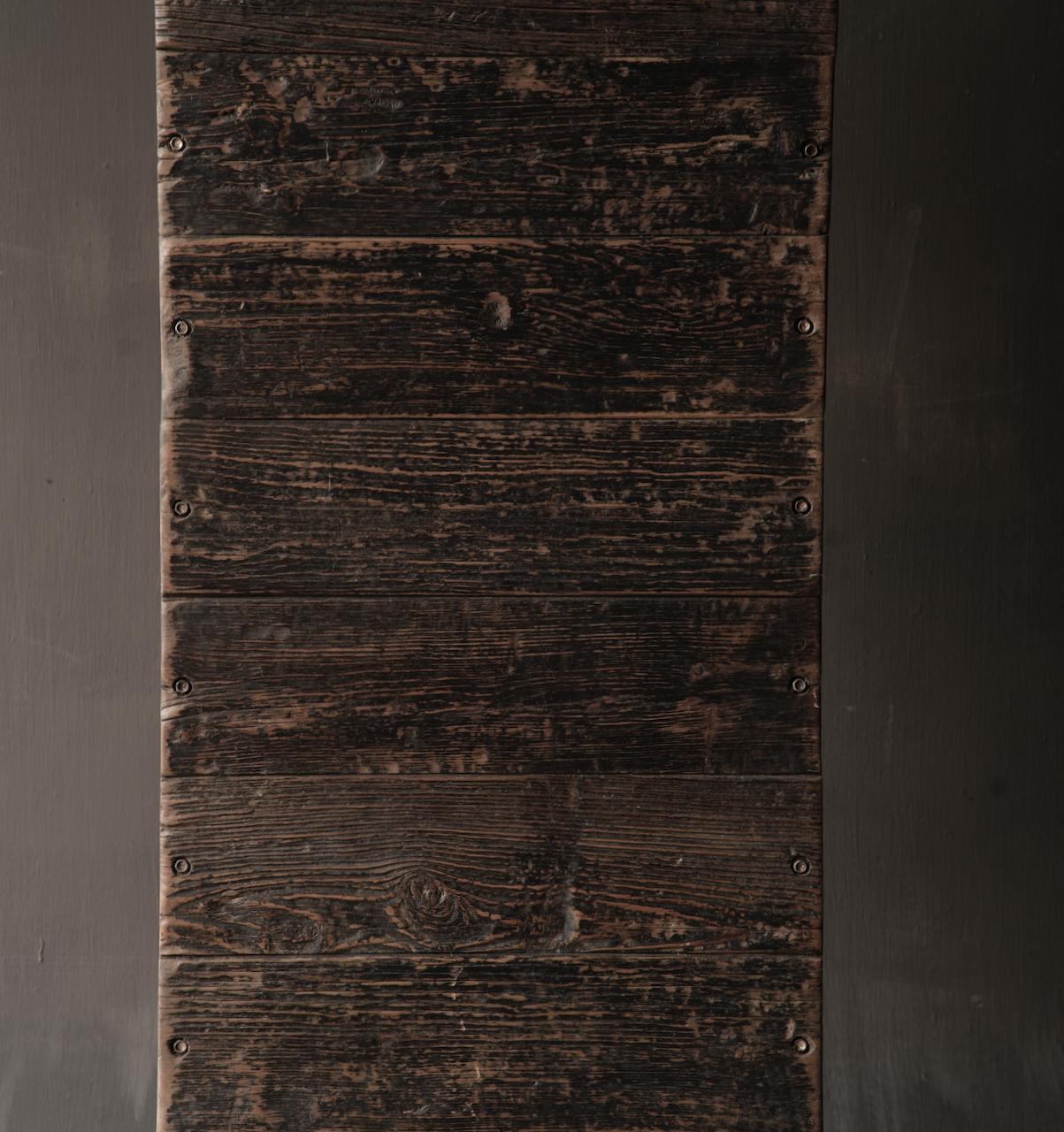Salontafel van oude plankjes  met ijzeren onderstel-6