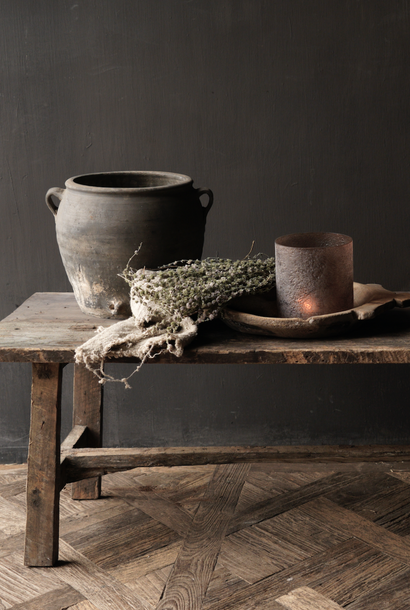 Robuster ländlicher Couchtisch, hergestellt in Indien aus altem gebrauchtem Holz