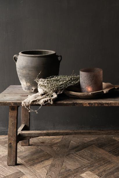 Stoer landelijke Salontafel gemaakt in India van oud gebruikt hout