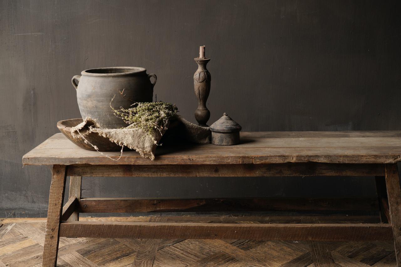 Couchtisch hergestellt in Indien aus altem gebrauchtem Holz-2