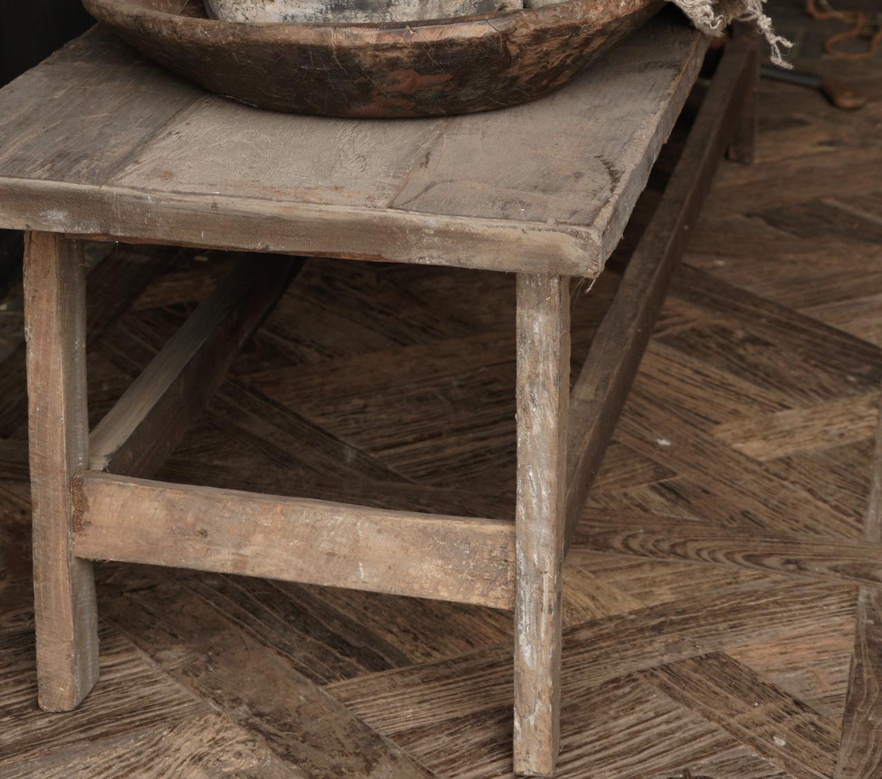 Couchtisch hergestellt in Indien aus altem gebrauchtem Holz-5