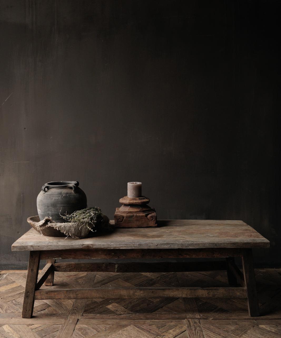 Salontafel gemaakt in India van oud gebruikt hout-2