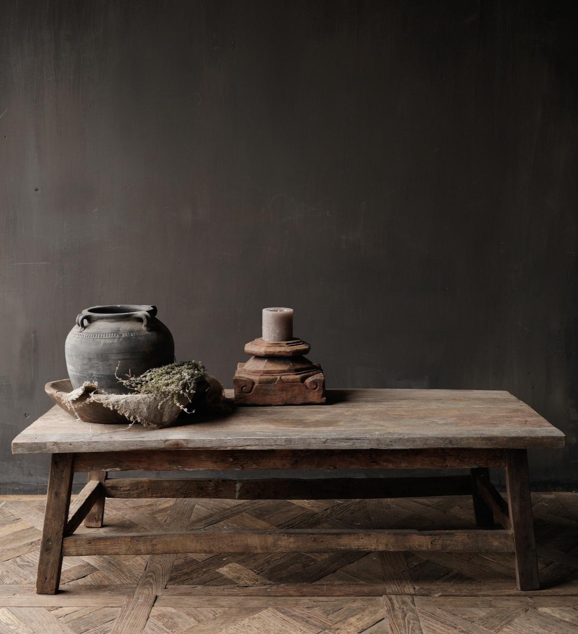 Salontafel gemaakt in India van oud gebruikt hout-3