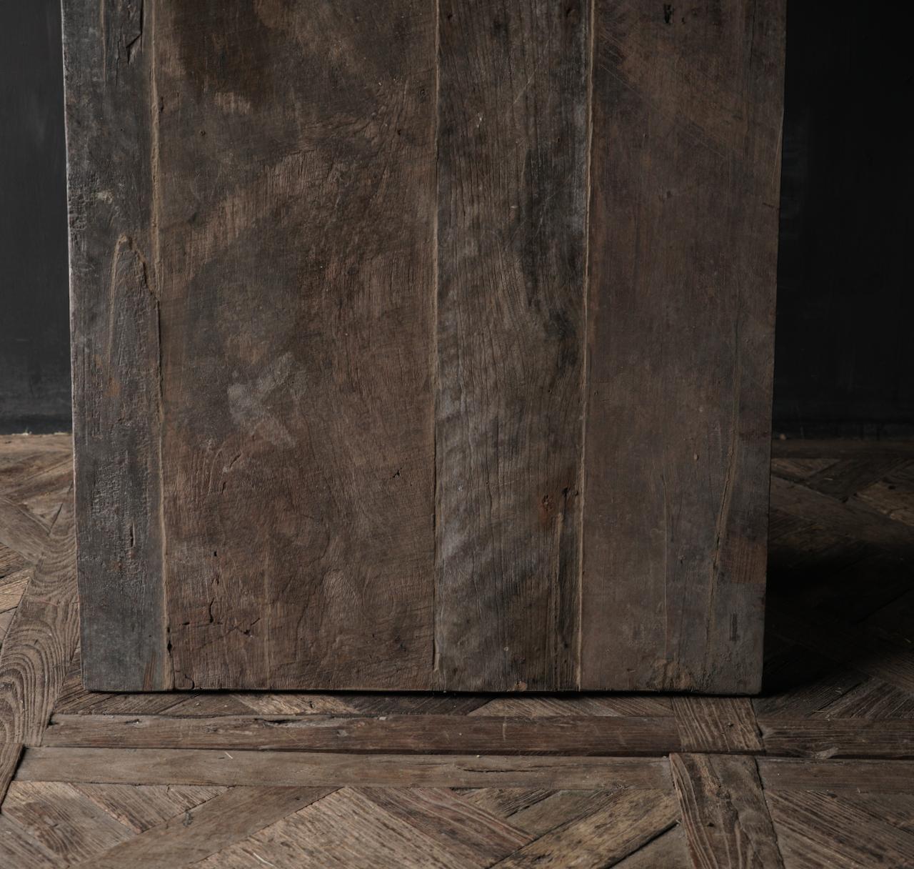 Salontafel gemaakt in India van oud gebruikt hout-8