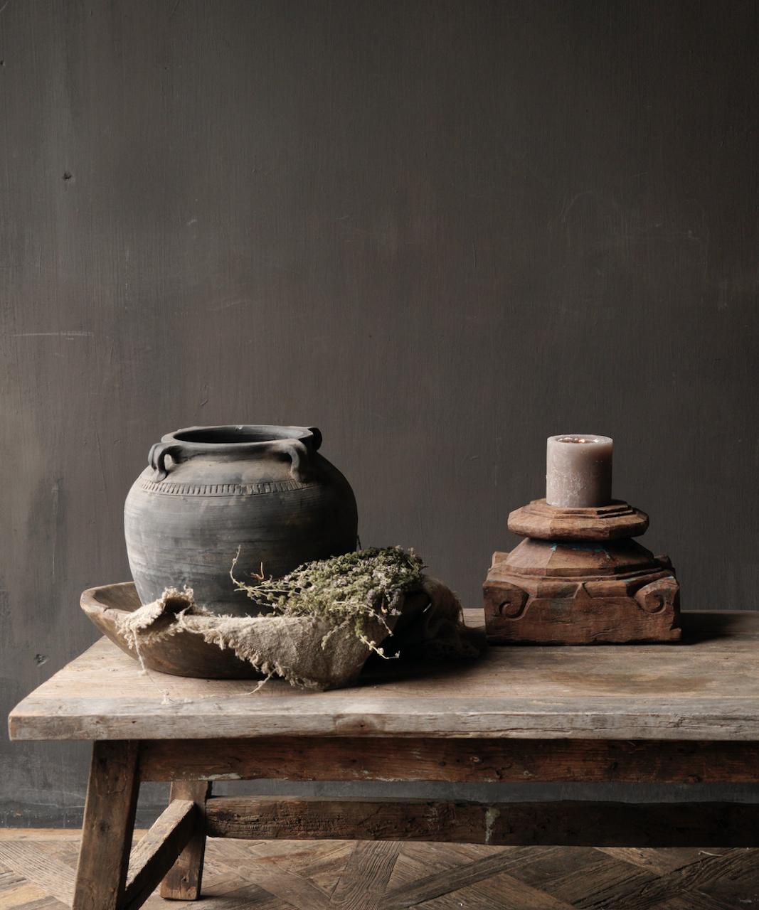 Salontafel gemaakt in India van oud gebruikt hout-10