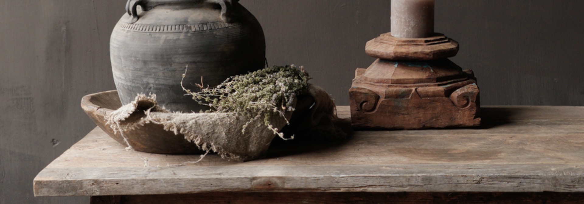 Salontafel gemaakt in India van oud gebruikt hout