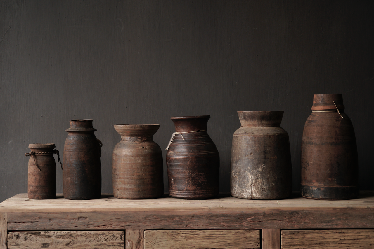 Original Old wooden Nepalese Jug from-4