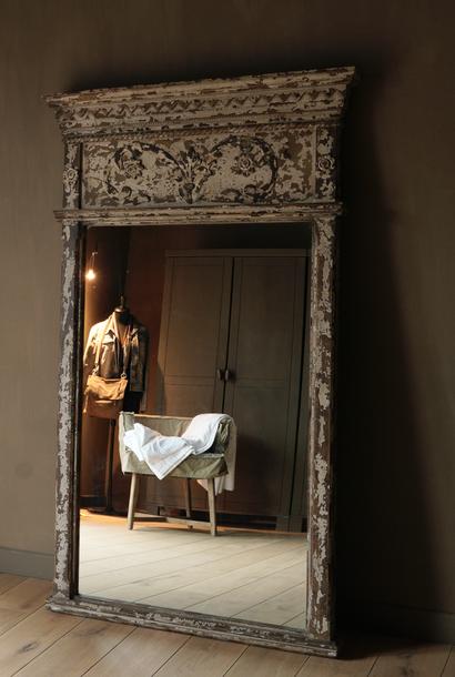 Großer Holzspiegel