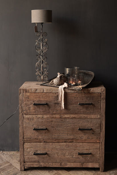 Robuust Oud houten lade kastje