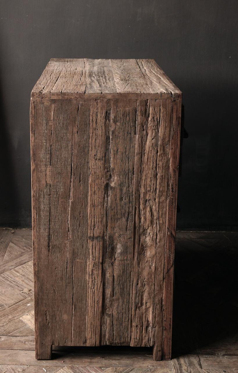 Robuust Oud houten lade kastje-4