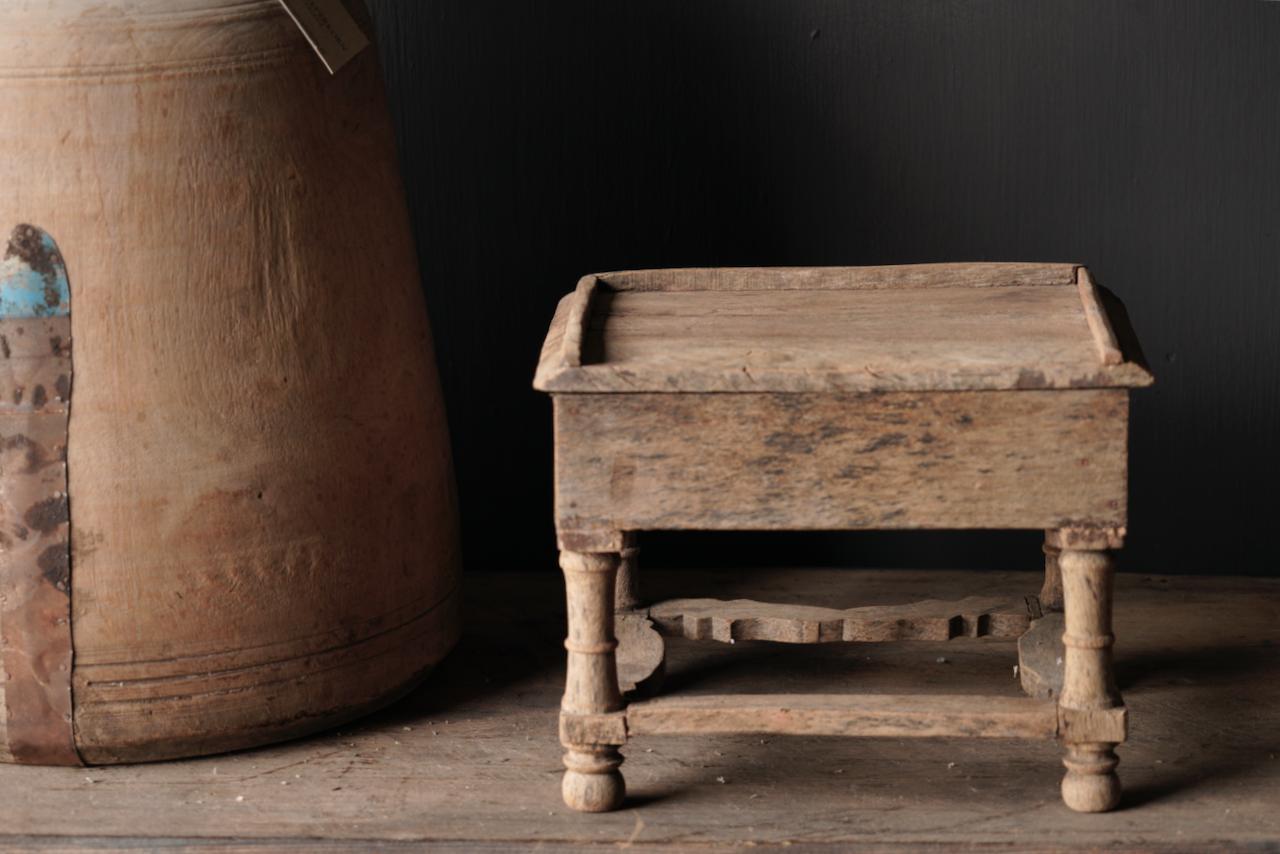 Unique Old Authentic wooden mini table-4