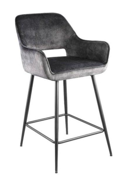 PTMD Bar stool Fallon Velvet