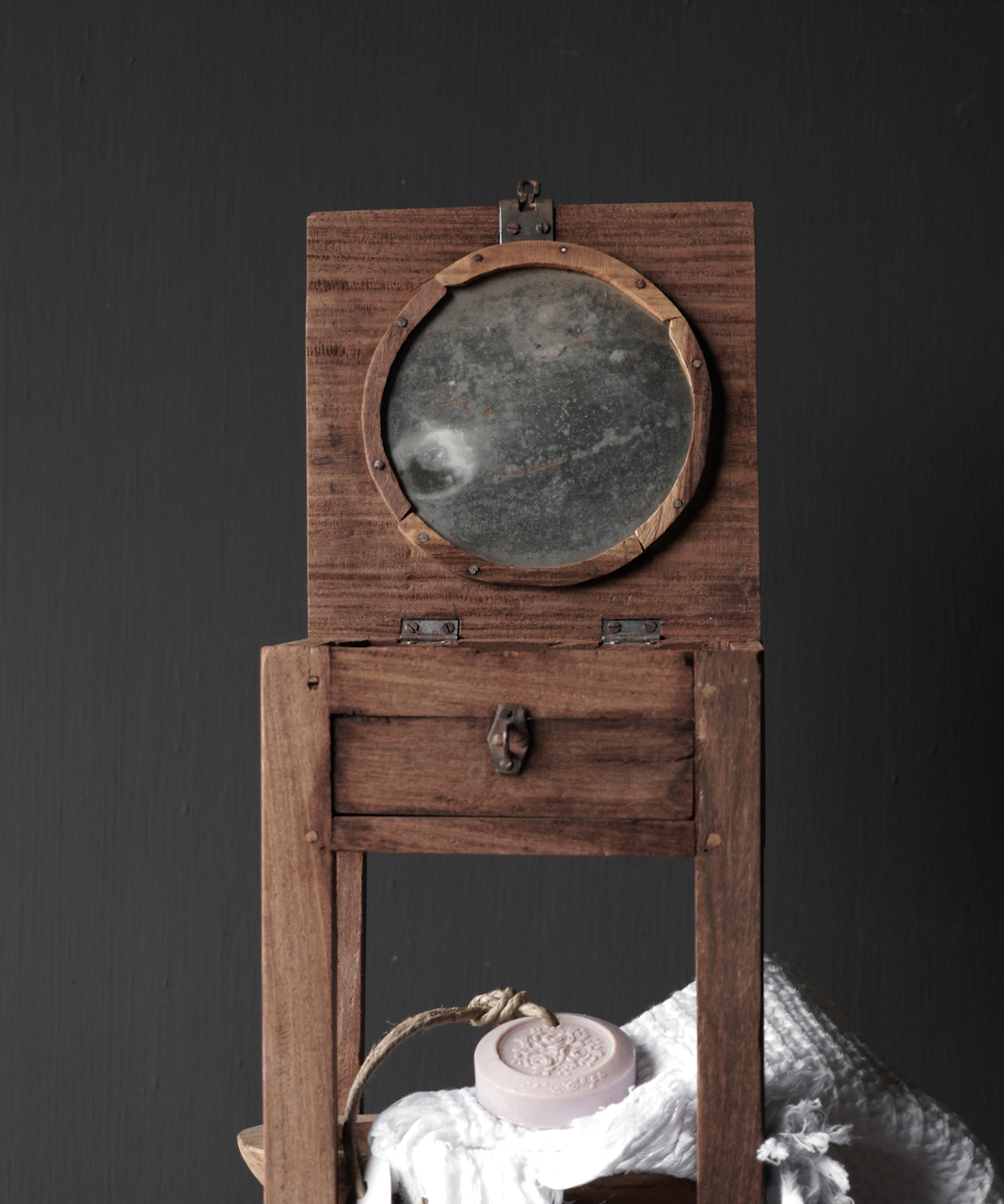 Unique Old Authentic wooden mini table-2