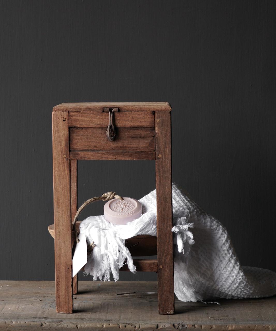 Unique Old Authentic wooden mini table-1