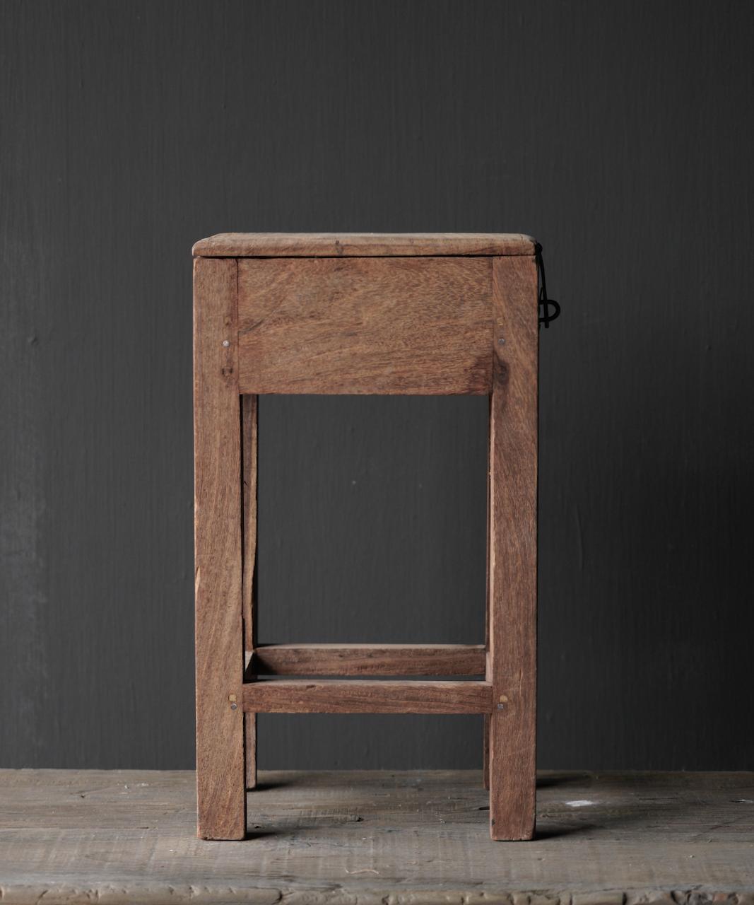 Unique Old Authentic wooden mini table-5