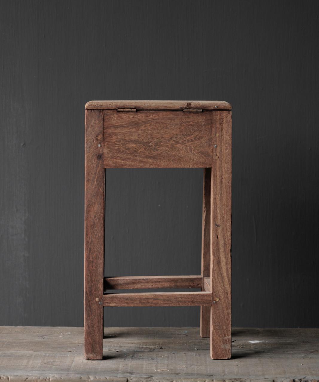 Unique Old Authentic wooden mini table-6