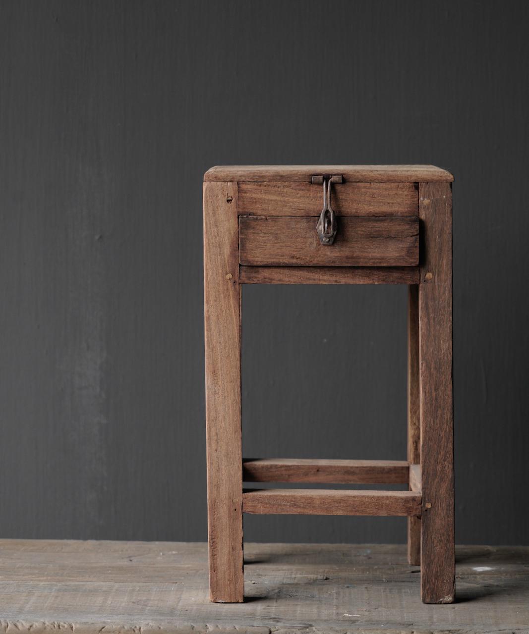 Unique Old Authentic wooden mini table-8