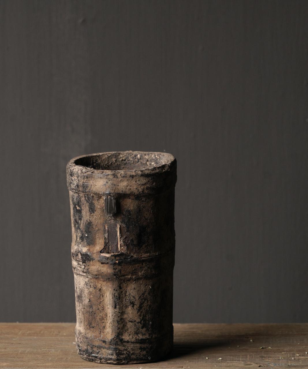 Kleiner sehr alter hölzerner Küchentopf - Kopie-5