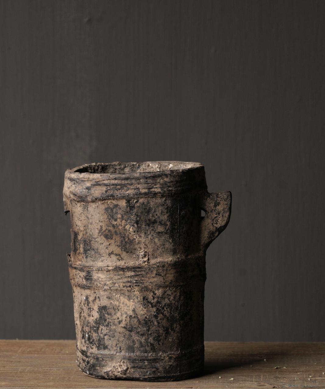 Kleiner sehr alter hölzerner Küchentopf - Kopie-6