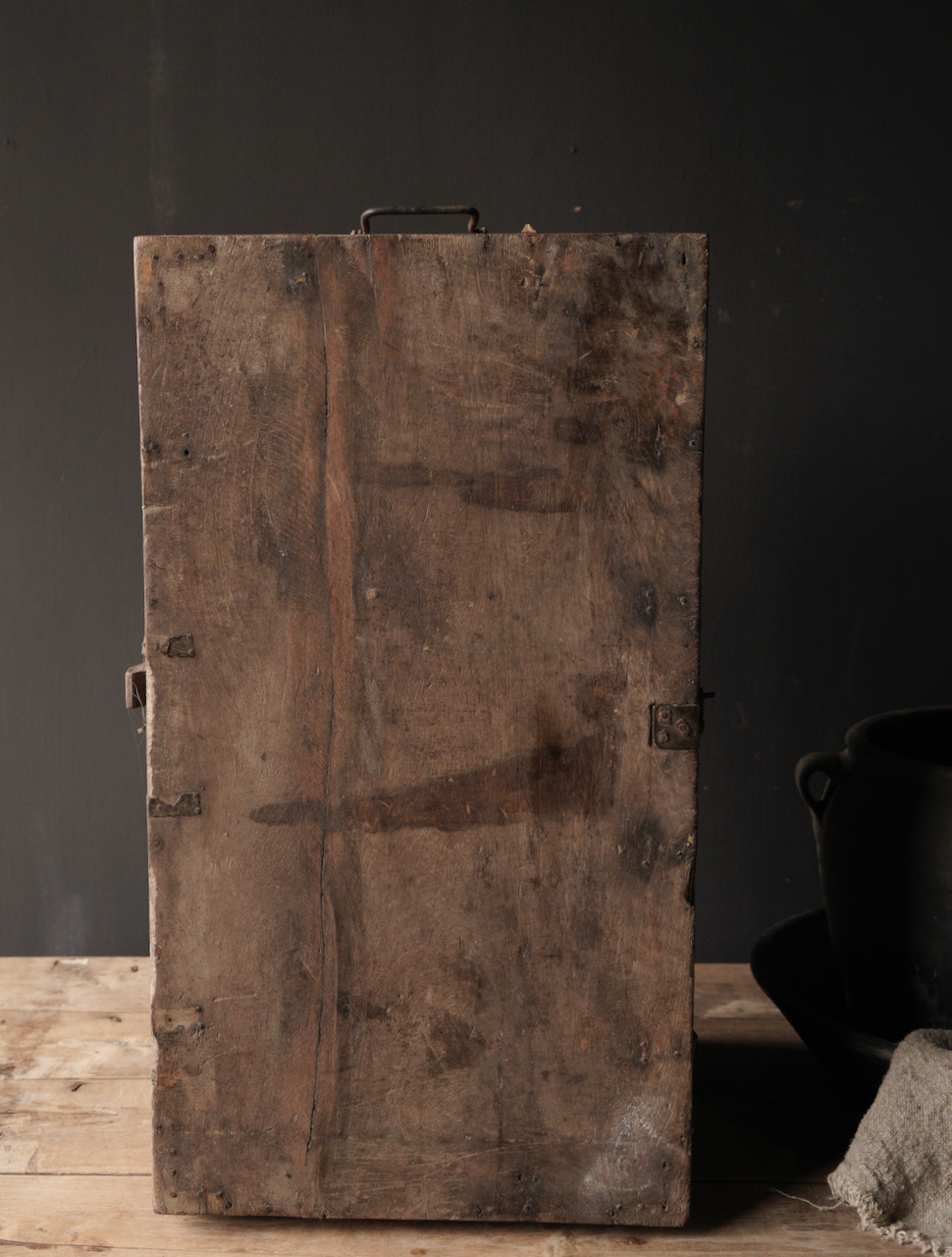 Oude Authentieke houten kist-9