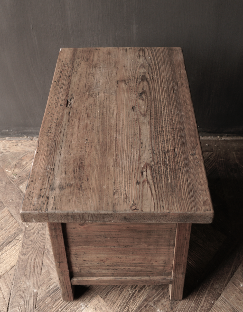 Old driftwood wooden cabinet or bedside table with drawer-7